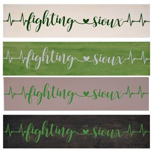 fighting sioux ekg heartbeat