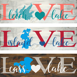 LAKE LOVE SIGNS