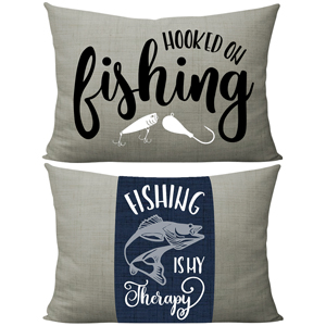 Hooked on fishing pillow