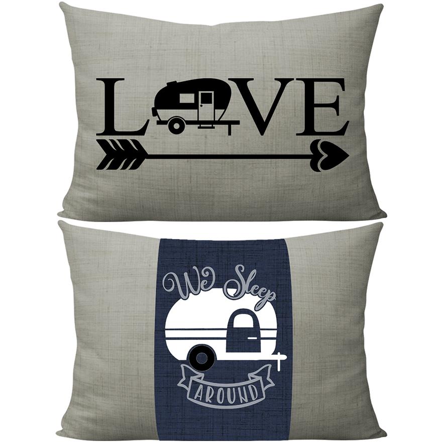 Gray + Navy wrap love camping thumbnail