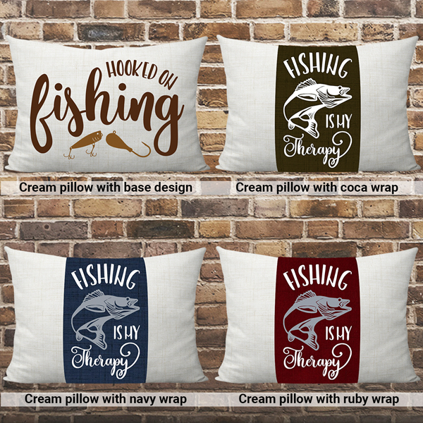 Hooked on fishing pillow cream choices