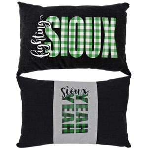 charcoal fighting sioux pillow