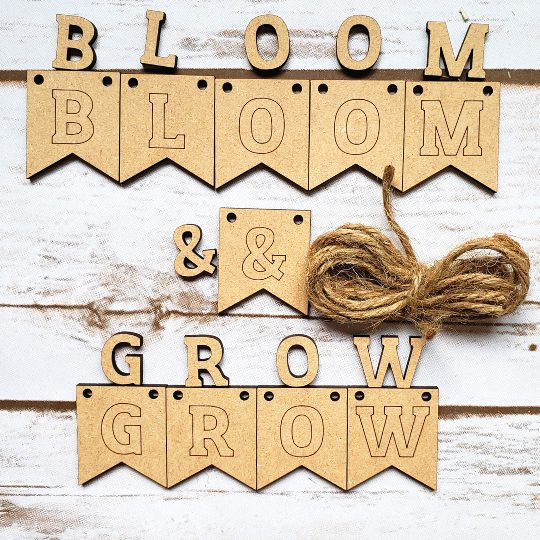 Bloom & Grow Banner DIY Décor Kit - Unfinished