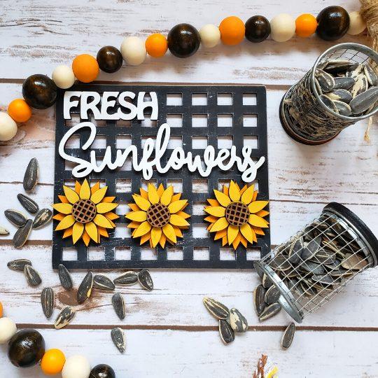 Fresh Sunflowers DIY Décor Kit - Finished