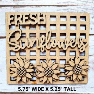 Fresh Sunflowers DIY Décor Kit - Measurements