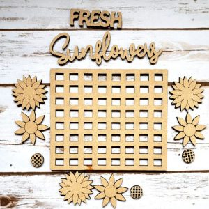 Fresh Sunflowers DIY Décor Kit - Unfinished all parts