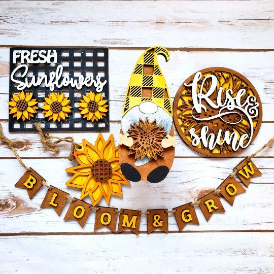 Sunflower DIY Décor Kit - Finished