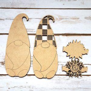 Sunflower Gnome DIY Décor Kit - Unfinished