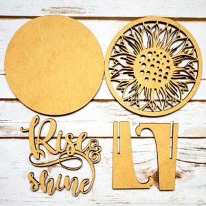 Rise & Shine Sunflower DIY Décor Kit - Unfinished