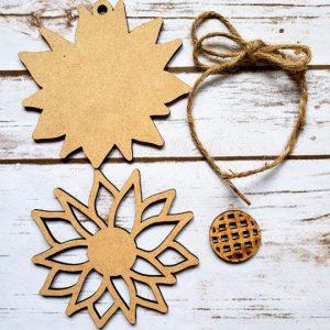 Sunflower Tag DIY Décor Kit - Unfinished