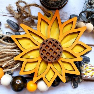 Sunflower Tag DIY Décor Kit - Finished